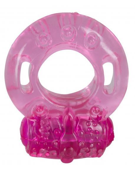 """Průhledný perličkový vibrátor s dráždičem klitorisu - """"Eclipse Beaver"""""""